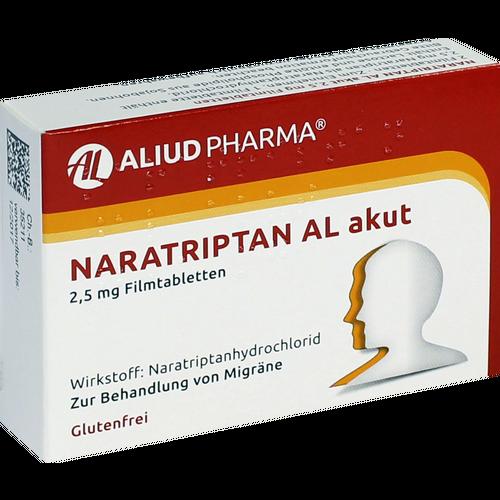 Verpackungsbild(Packshot) von NARATRIPTAN AL akut 2,5 mg Filmtabletten