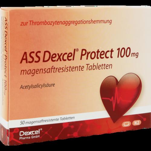 Verpackungsbild(Packshot) von ASS Dexcel Protect 100 mg magensaftres.Tabletten