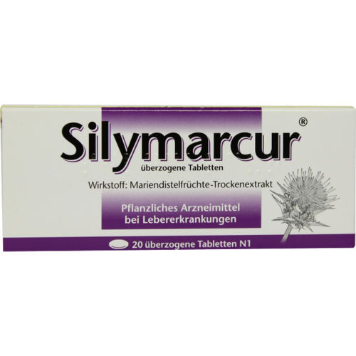 Verpackungsbild(Packshot) von SILYMARCUR überzogene Tabletten