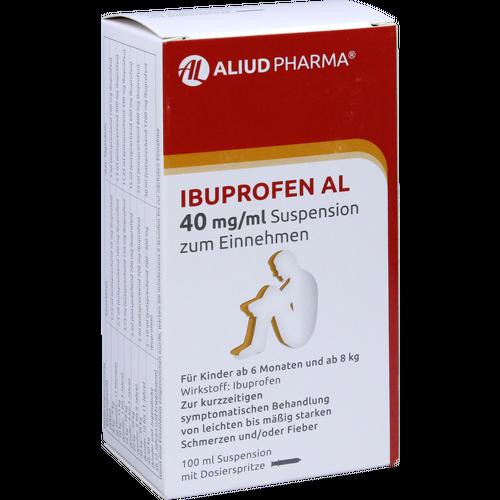 Verpackungsbild(Packshot) von IBUPROFEN AL 40 mg/ml Suspension zum Einnehmen
