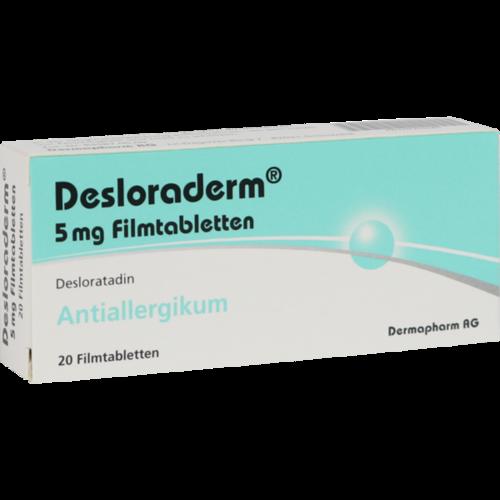 Verpackungsbild(Packshot) von DESLORADERM 5 mg Filmtabletten