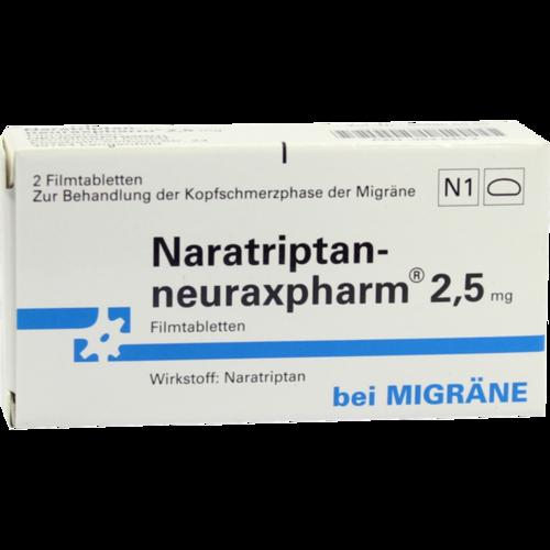 Verpackungsbild(Packshot) von NARATRIPTAN-neuraxpharm 2,5 mg Filmtabletten