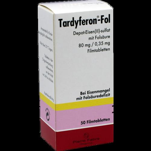 Verpackungsbild(Packshot) von TARDYFERON-Fol Depot-Eisen(II)-sul.m.Fols.Filmtab.