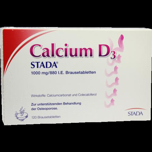 Verpackungsbild(Packshot) von CALCIUM D3 STADA 1000 mg/880 I.E. Brausetabletten