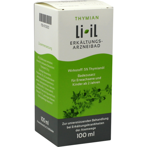 Verpackungsbild(Packshot) von THYMIAN LI-IL Erkältungs-Arzneibad