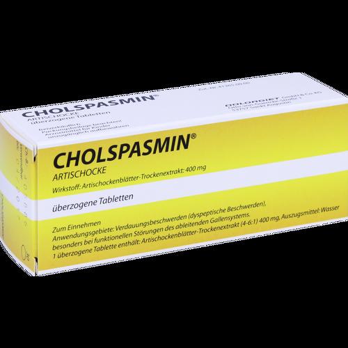 Verpackungsbild(Packshot) von CHOLSPASMIN Artischocke überzogene Tabletten
