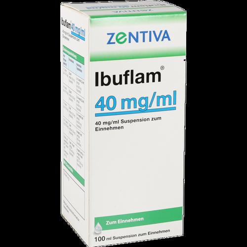 Verpackungsbild(Packshot) von IBUFLAM 40 mg/ml Suspension zum Einnehmen