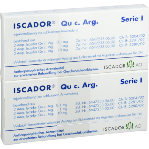 Verpackungsbild(Packshot) von ISCADOR Qu c.Arg Serie I Injektionslösung