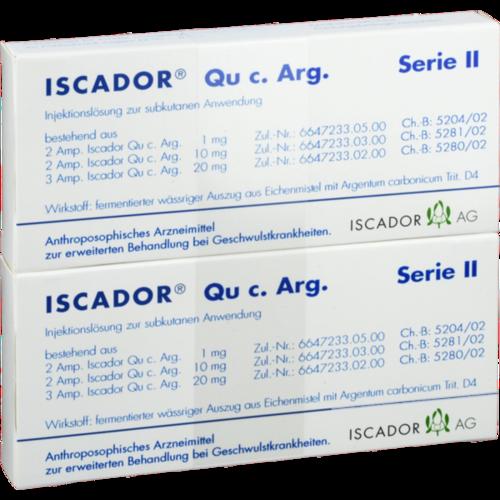 Verpackungsbild(Packshot) von ISCADOR Qu c.Arg Serie II Injektionslösung