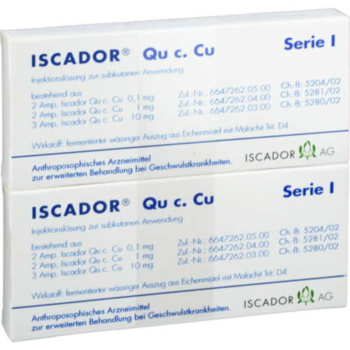 Verpackungsbild(Packshot) von ISCADOR Qu c.Cu Serie I Injektionslösung