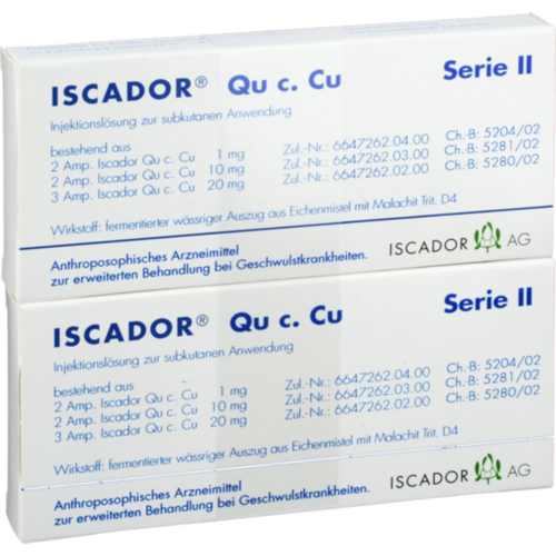 Verpackungsbild(Packshot) von ISCADOR Qu c.Cu Serie II Injektionslösung