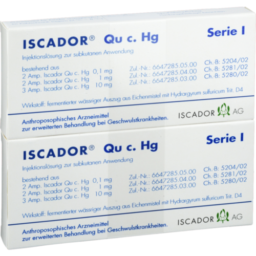 Verpackungsbild(Packshot) von ISCADOR Qu c.Hg Serie I Injektionslösung