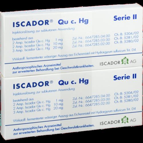 Verpackungsbild(Packshot) von ISCADOR Qu c.Hg Serie II Injektionslösung