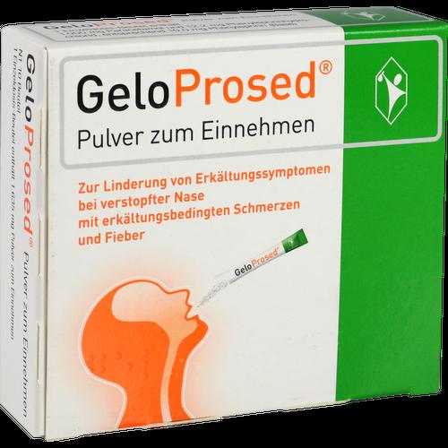 Verpackungsbild(Packshot) von GELOPROSED Pulver zum Einnehmen