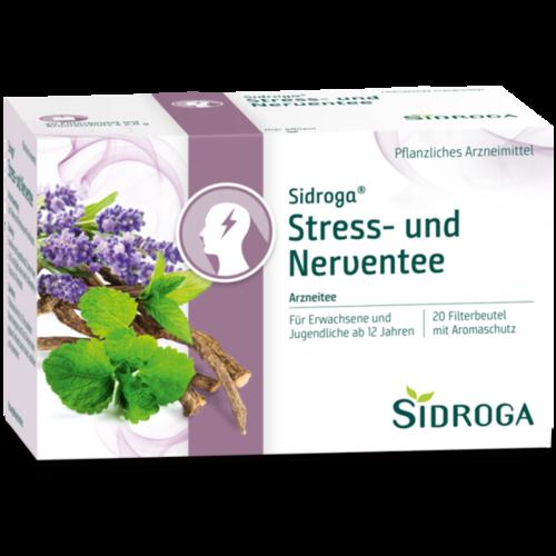 Verpackungsbild(Packshot) von SIDROGA Stress- und Nerventee Filterbeutel