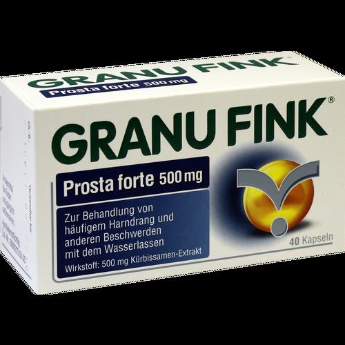Verpackungsbild(Packshot) von GRANU FINK Prosta forte 500 mg Hartkapseln