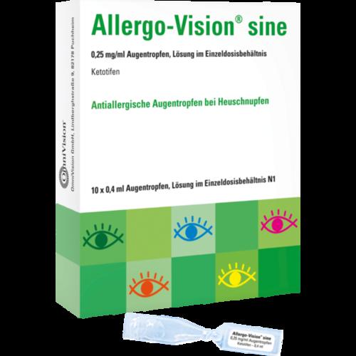 Verpackungsbild(Packshot) von ALLERGO-VISION sine 0,25 mg/ml AT im Einzeldo.beh.