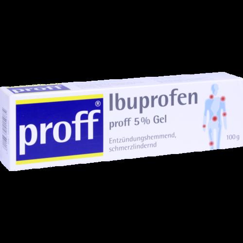 Verpackungsbild(Packshot) von IBUPROFEN proff 5% Gel