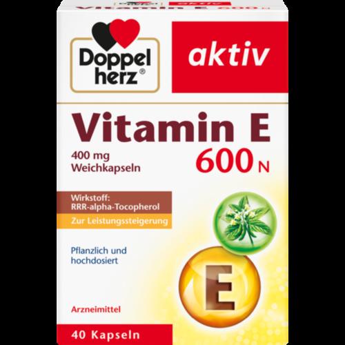 Verpackungsbild(Packshot) von DOPPELHERZ Vitamin E 600 N Weichkapseln