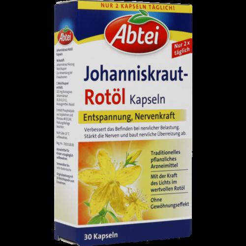 Verpackungsbild(Packshot) von ABTEI Johanniskraut Rotöl Kapseln