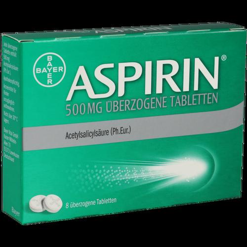 Verpackungsbild(Packshot) von ASPIRIN 500 mg überzogene Tabletten