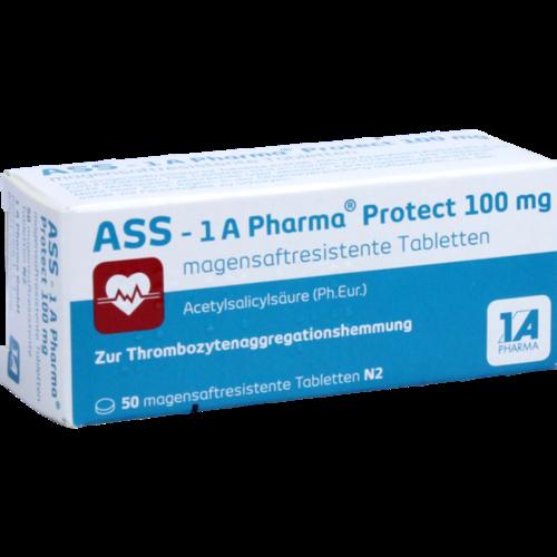 Verpackungsbild(Packshot) von ASS-1A Pharma Protect 100 mg magensaftr.Tabletten