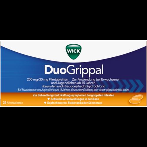 Verpackungsbild(Packshot) von WICK DuoGrippal 200 mg/30 mg Filmtabletten