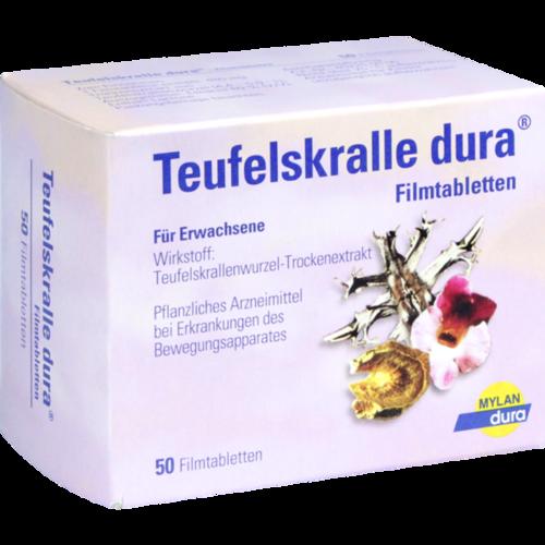 Verpackungsbild(Packshot) von TEUFELSKRALLE DURA Filmtabletten