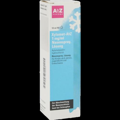 Verpackungsbild(Packshot) von XYLOMET-AbZ 1 mg/ml Nasenspray