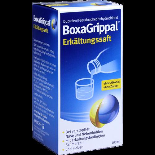 Verpackungsbild(Packshot) von BOXAGRIPPAL Erkältungssaft