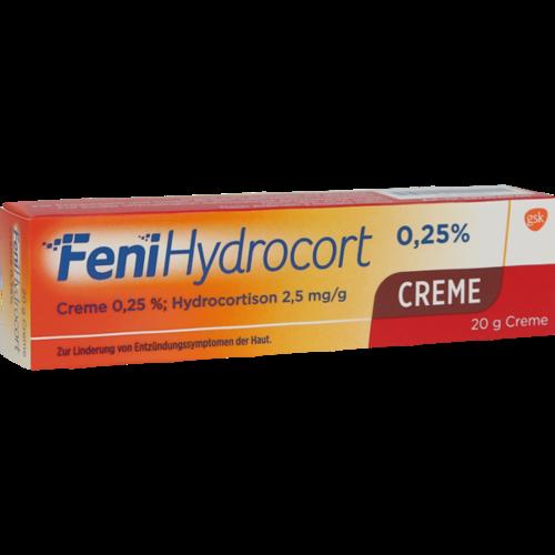 Verpackungsbild(Packshot) von FENIHYDROCORT Creme 0,25%