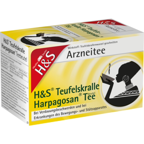 Verpackungsbild(Packshot) von H&S Teufelskralle Harpagosan-Tee Filterbeutel