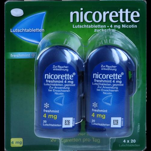 Verpackungsbild(Packshot) von NICORETTE freshmint 4 mg Lutschtabletten gepresst