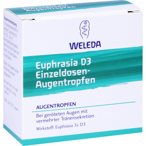 Verpackungsbild(Packshot) von EUPHRASIA D 3 Einzeldosen-Augentropfen