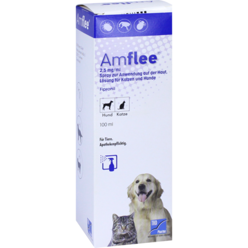 Verpackungsbild(Packshot) von AMFLEE 2,5 mg/ml Spray Lösung f.Hunde/Katzen