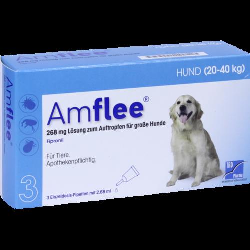 Verpackungsbild(Packshot) von AMFLEE 268 mg Spot-on Lsg.f.große Hunde 20-40kg