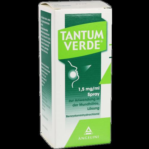 Verpackungsbild(Packshot) von TANTUM VERDE 1,5 mg/ml Spray z.Anwen.i.d.Mundhöhle