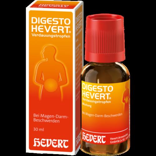 Verpackungsbild(Packshot) von DIGESTO Hevert Verdauungstropfen
