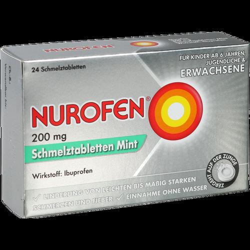 Verpackungsbild(Packshot) von NUROFEN 200 mg Schmelztabletten Mint