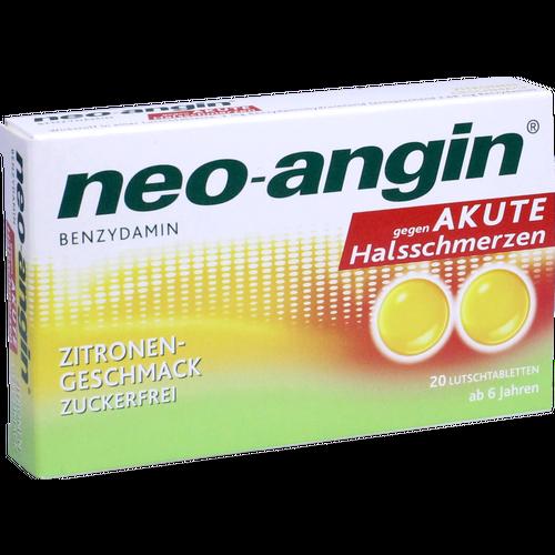 Verpackungsbild(Packshot) von NEO-ANGIN Benzydamin akute Halsschmerzen Zitrone