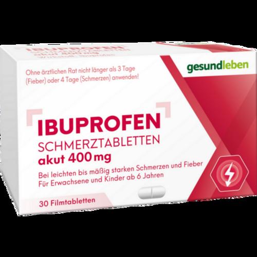 Verpackungsbild(Packshot) von IBUPROFEN Schmerztabletten 400 mg Filmtabletten