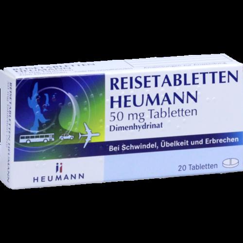Verpackungsbild(Packshot) von REISETABLETTEN Heumann 50 mg Tabletten