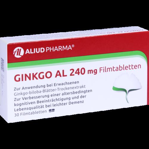 Verpackungsbild(Packshot) von GINKGO AL 240 mg Filmtabletten