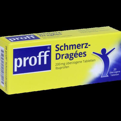 Verpackungsbild(Packshot) von PROFF Schmerzdragees 200 mg