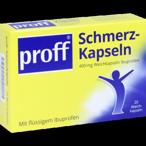 Verpackungsbild(Packshot) von PROFF Schmerzkapseln 400 mg
