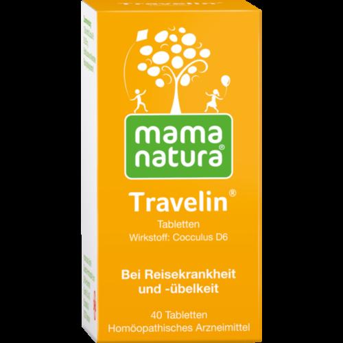Verpackungsbild(Packshot) von MAMA NATURA Travelin Reisetabletten