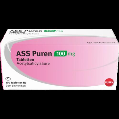 Verpackungsbild(Packshot) von ASS Puren 100 mg Tabletten