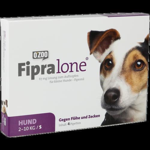Verpackungsbild(Packshot) von FIPRALONE 67 mg Lsg.z.Auftropf.f.kleine Hunde