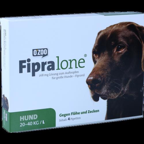 Verpackungsbild(Packshot) von FIPRALONE 268 mg Lsg.z.Auftropf.f.große Hunde