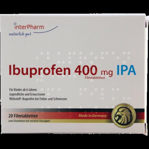 Verpackungsbild(Packshot) von IBUPROFEN 400 mg IPA Filmtabletten